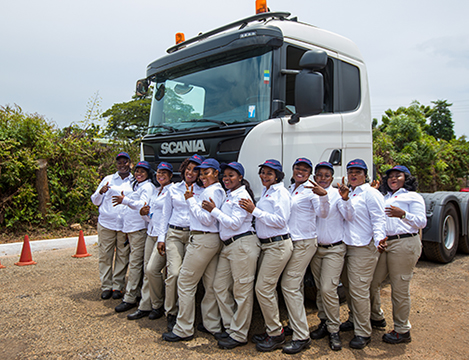 First 11 Ghanaian Female Truck Drivers